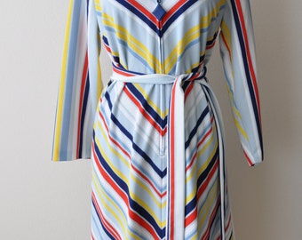 Vintage 60s Colorful Striped Tent Dress