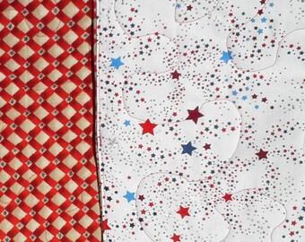 "Table Runner - Red, White And Blue Glitter Stars 12"" x 42"""