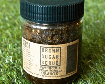 Patchouli & Sweet Orange Organic Brown Sugar Scrub -  Face, body, foot scrub