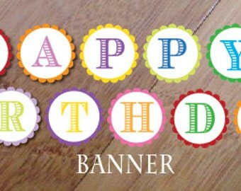 Crayon Art Party Birthday Banner, Printed and assembled, Artist Party