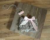 Newborn Diaper Cover and Headband Set, Taupe, Pink  Bloomers, Lace Diaper Cover, Bow Baby Bloomers, Baby Halo, Newborn Props, Baby Props