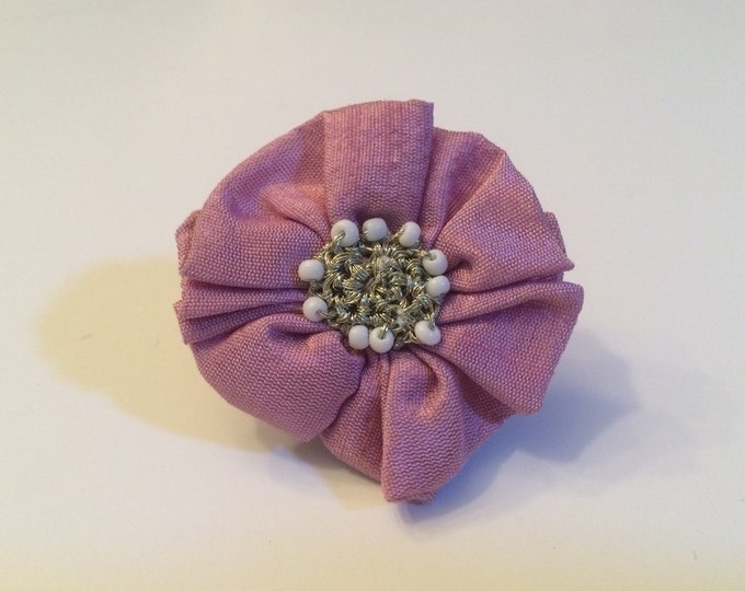 "Dog Collar Flower, 2"" Light Purple Collar Flower for small dog breeds, cats, bunny rabbit or ferrets"