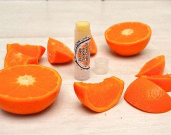 Orange Coconut Lip Balm Fat Lips Chapstick Cocoa Butter All Natural Organic Lip Care