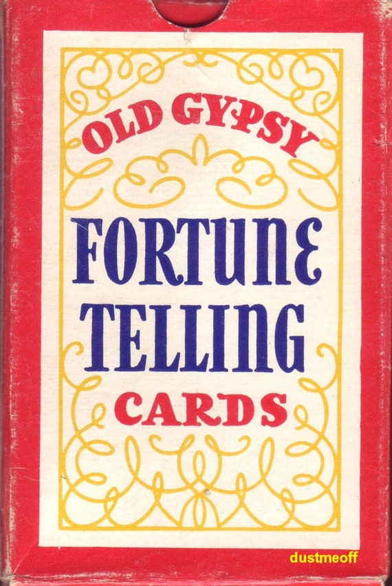 Vintage 1940 Old Gypsy FORTUNE TELLING CARDS complete by ...