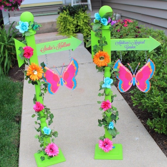 Items Similar To Fairy Garden Party Personalized Sign