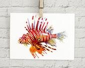"Lionfish: 5x7"" print"