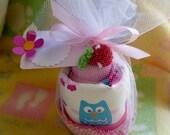 Owl Bib for Girl..Large Pocket Bib..2 Baby Washcloths..Owl Baby Shower..Fits Up to 18 months..Owl Toddler Birthday :)
