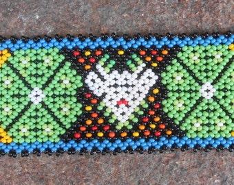 Peyote Beadweaving Colorful Seed Beaded Bracelet