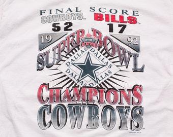 Dallas Cowboys T-Shirt, Super Bowl XXVII Champions, 27, Vintage 90s