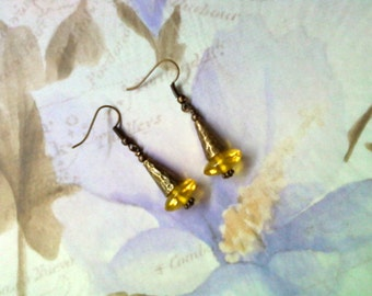 Sunshine Yellow Earrings (1724)