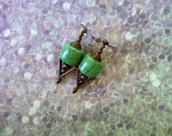 Mint Green Earrings (1773)