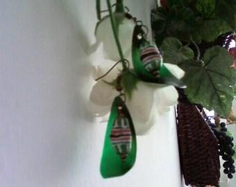 Green Ethnic Inspired Earrings (1572)