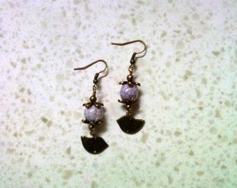 Lavender Bird Earrings (1573)