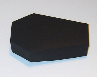 Coffin Box Kit with Lids - Halloween Treat Boxes - Party Supplies - Goth Wedding