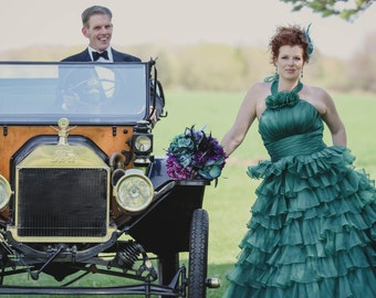 Sensational Green Wedding Dress Custom Made Wedding Dress