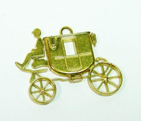 authentic brass coach purse bag charm hangtag keychain keyfob
