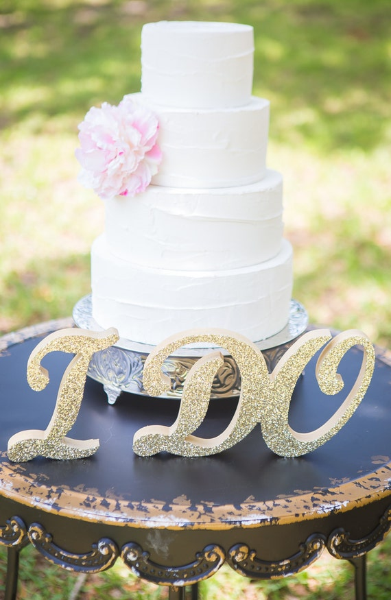 I Do Sign for Wedding Table Decor, Cake Table Sign, Wedding Table Sign for Ceremony or Reception, I Do Standing Letters (Item - IDO801)