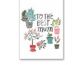 Potted Plants Mother's Day Greeting Card