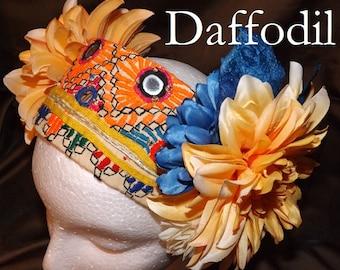 Tribal Fusion ATS Belly Dance Headpiece, Daffodil