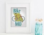 "Bike Mo' Printable Wall Art, Digital Download, Home Wall Decor 8""x10"" (Jpeg Files) - INSTANT DOWNLOAD -- Bike Print -"