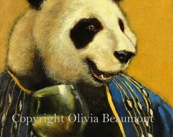 """Panda- """"October Ale"""" - ACEO LE"""