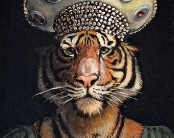"""Tiger - """"Donatella"""" - ACEO LE"""