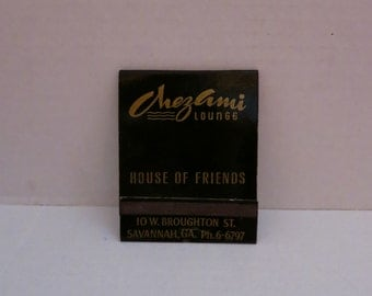 Chez Ami Lounge Oversized Matchbook Savannah GA