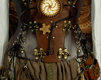 "Be Unmissable - Steampunk Engineer Corset Belt. to fit 26"" (66cm) natural waist ready to ship now."