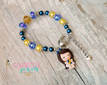 Down Syndrome Awareness bracelet, down syndrome charms, down syndrome jewelry