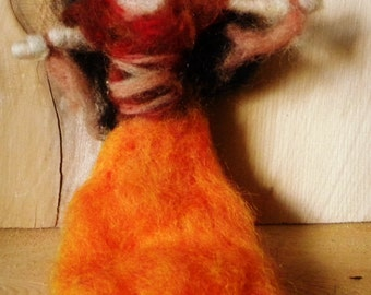 Hecate: Goddess of the Crossroads Felted Waldorf Goddess Dolly