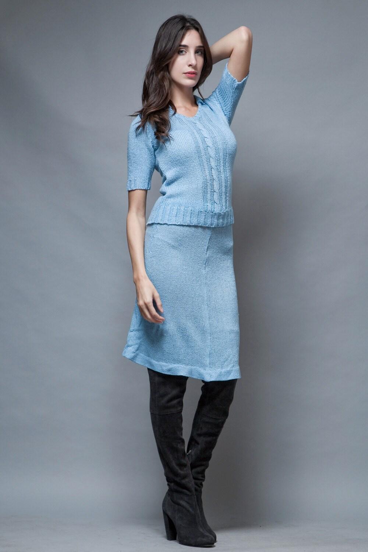 Vintage 70S Pierre Balmain Sweater Skirt Set By Shoprabbithole-7580
