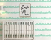 Baby Nursery Decal. Wall Stripes with Wallpaper effect. Stripe Wall Decal for home or office. Wall Decor - AP0025NR