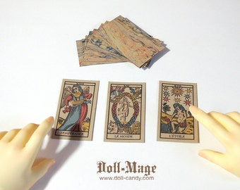Antique Style Tarot Cards (Major Arcana) for SD BJD