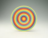 Dinner Plate As Seen On The Today Show Colorful Striped Coupe Dinnerware 10 inches Hand Painted