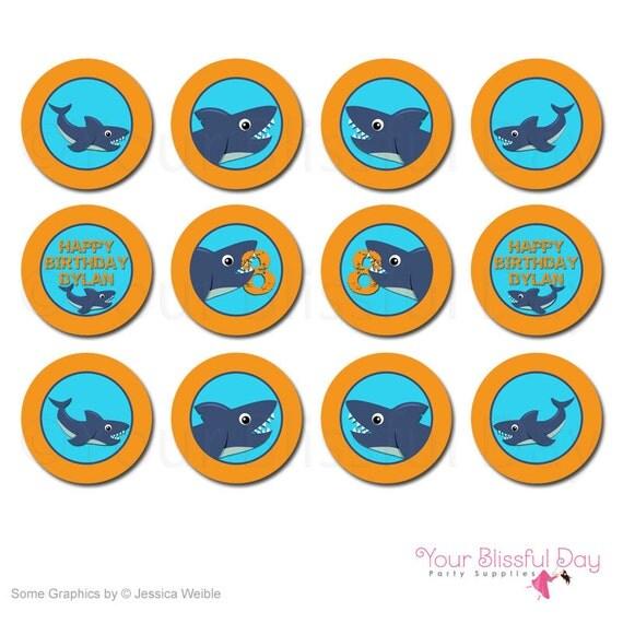 recipe: shark cupcake topper [33]