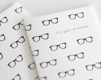 Happy Birthday card / happy birthday eye glasses card / it's your birthday eye glasses / birthday card / birthday card with eye glasses