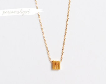 Personalized Lowercase Initial Necklace