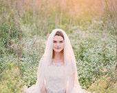 Wedding Veil, Floor length Veil, Single Layer Chapel Veil,  Bridal Veil, cathedral veil, tulle Veil,