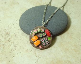 Round Sushi Platter Necklace