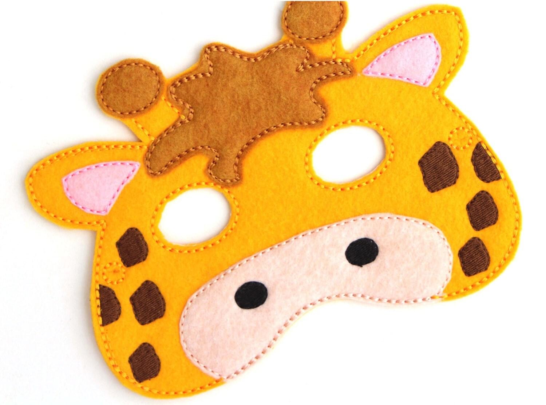 Kids Giraffe Mask Giraffe Costume Felt Mask Kids Face Mask