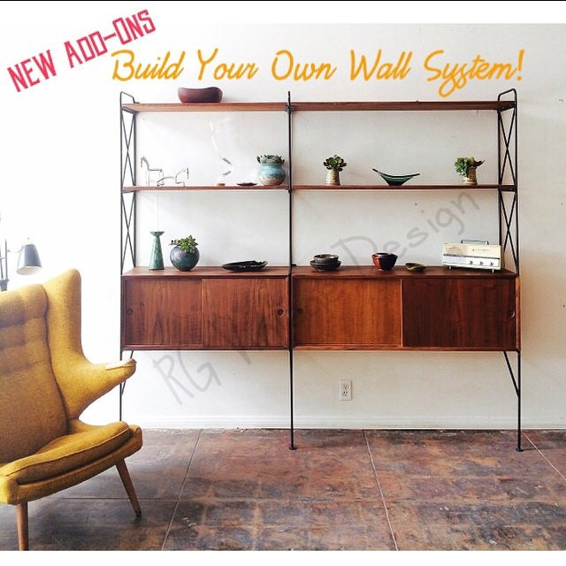 build your own wall unit shelving system custom made