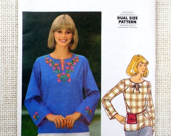 Butterick 5265 Vintage pattern 1970s hippie shirt tunic Medium Bust 32.5 Embroidery ethnic Festival