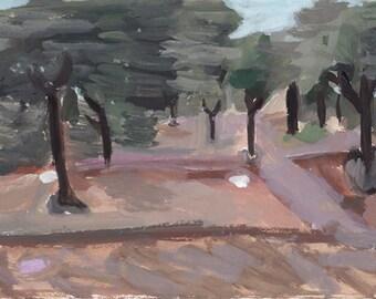 Olives Puglia, Italy,  original art print