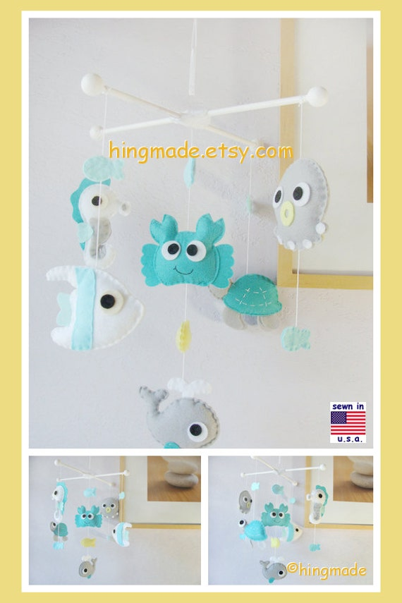 Baby mobile under the sea mobile sea animals mobile for Sea animal baby mobile
