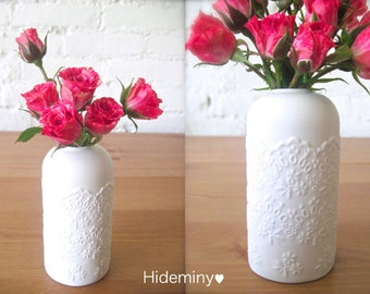 Lovely Porcelain Lace Flower Vase-Hideminy Lace Series