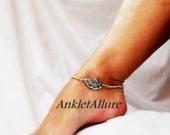 Fan Play Vintage Fan Ankle Bracelet Vintage Anklet Fusion Silver Gold  Ankle Bracelet