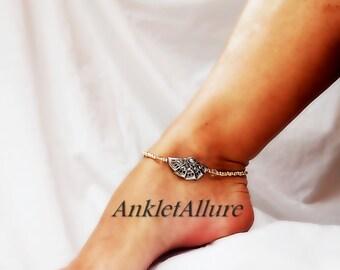 Fan Play Vintage Ankle Bracelet Vintage Jewelry Body Jewelry Foot Jewelry