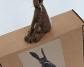 Needle felt Brown Hare making kit