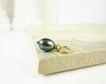 Peacock Pearl Jewelry - Tahitian Pearl Charms - South Sea Pearl Pendant - 14k Gold Pendants - Wire Wrapped Jewelry