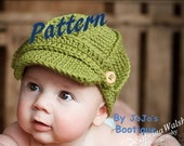 NEW! PDF Newsboy Hat PATTERN with Toddler Sizes - Baby Newsboy Hat - Newborn to 5T Sizes -Crochet Newsboy Hat -  by JoJosBootique